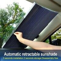 Автомобильный выдвижной солнцезащитный козырек от УФ-лучей на лобовое стекло автомобиля передний солнцезащитный Блок авто заднее окно скл...