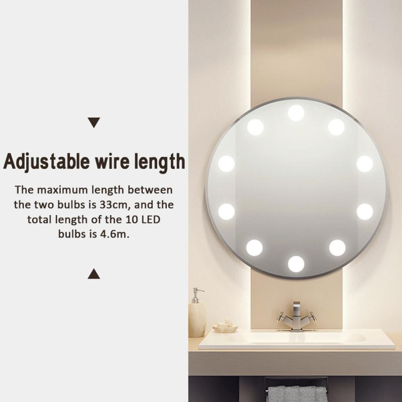 Led Mirror Light Bulb Vanity Headlights USB Touch Switch 10led Mirror Lights Bathroom Purchase Options