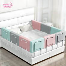 Infant Shining Newborn Bed Fence Barrier for Bed 60cm Adjustable Bed Barrier Fence for Bed Safety 0-6 Years Baby Bed Rail Fence