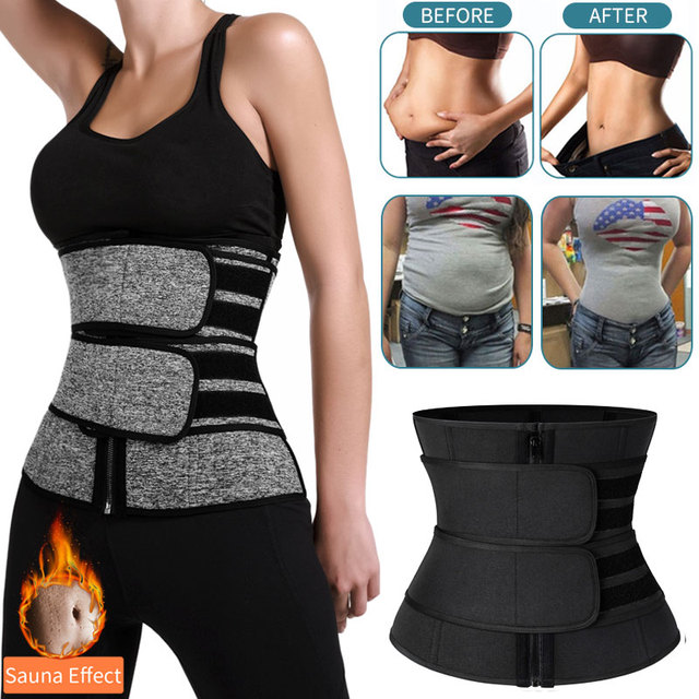 Waist Trainer Women Slimming Sheath Tummy Reducing Shapewear Belly Shapers Sweat Body Shaper Sauna Corset Workout Trimmer Belts