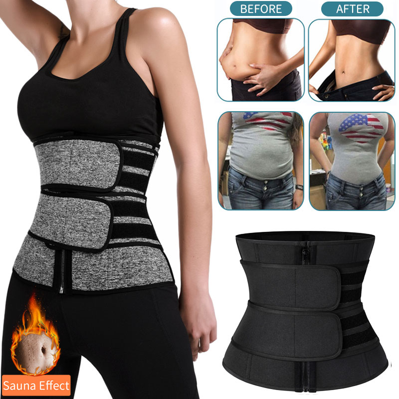 Waist Trainer Women Slimming Sheath Tummy Reducing Shapewear Belly Shapers Sweat Body Shaper Sauna Corset Workout Trimmer Belts(China)
