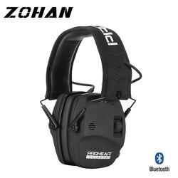 Elektroniczne strzelanie z Bluetooth ochrona słuchu wzmocnienie dźwięku redukcja szumów nauszniki profesjonalne ochraniacze na uszy myśliwskie NRR w Ochraniacze słuchu od Bezpieczeństwo i ochrona na