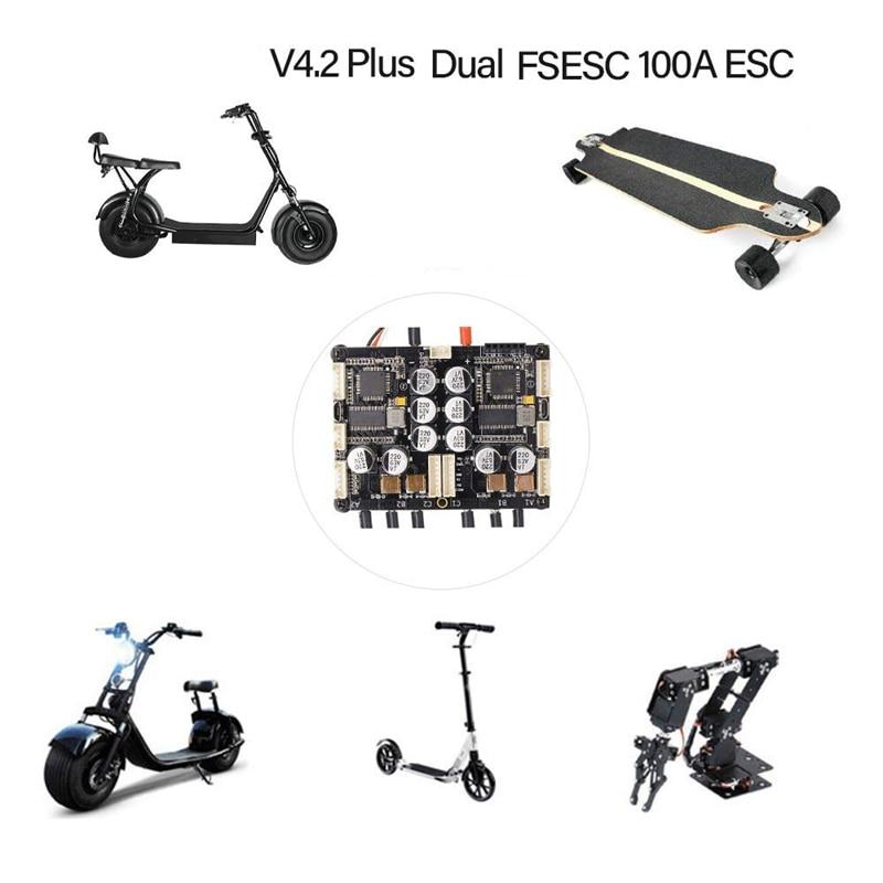 V4.2 плюс двойной Fsesc 100A Esc электронный контроль скорости с Bec радиатором для электрического скейтборда Rc автомобиля лодки электровелосипеда ... - 2
