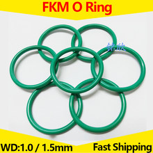 FKM O Ring Oil Seal Viton Sealing Washer Fluorous Rubber Gaskets WD 1.0mm 1.5mm Seat Ring OD 3mm-85mm