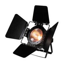 LED Par COB 200W ahır kapıları ile yüksek güç alüminyum kasa ile LED sahne aydınlatma 200W COB RGBWA + UV 6in1 soğuk beyaz ve sıcak beyaz