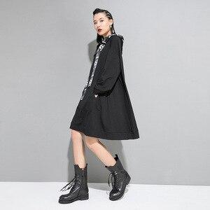 Image 4 - Max LuLu 2019 marca Coreana de moda de las señoras de diseñador de ropa de otoño para mujer con capucha sudaderas holgadas casuales sudaderas largas de talla grande