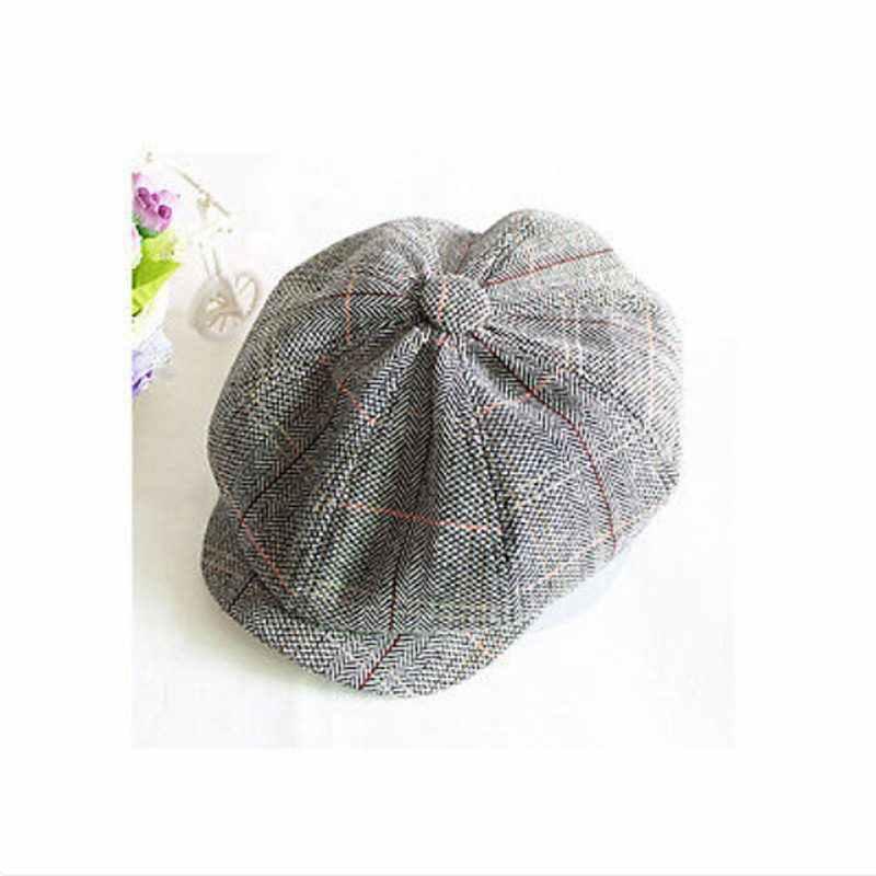 خمر قبعة موزع الصحف الرجال مثمنة قبعة عادية البحرية منقوشة ربيع جديد الكورية الرسامين القبعات