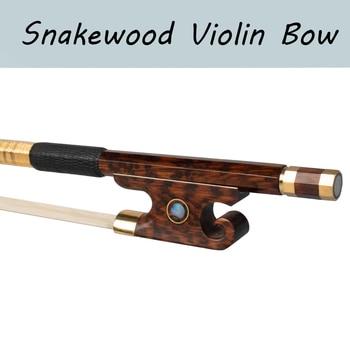 Master Snakewood Violin Bow Full Size W/Paris Eye Snakewood Frog 4/4 Violin Bow reed myrtle the master s violin