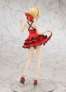 Image 4 - 25 CM אנימה גורל נוסף סקסי ילדה איור סאבר נרון קלאודיוס אדום שמלת PVC פעולה איור אסיפה דגם צעצועי (אין תיבת צבע)