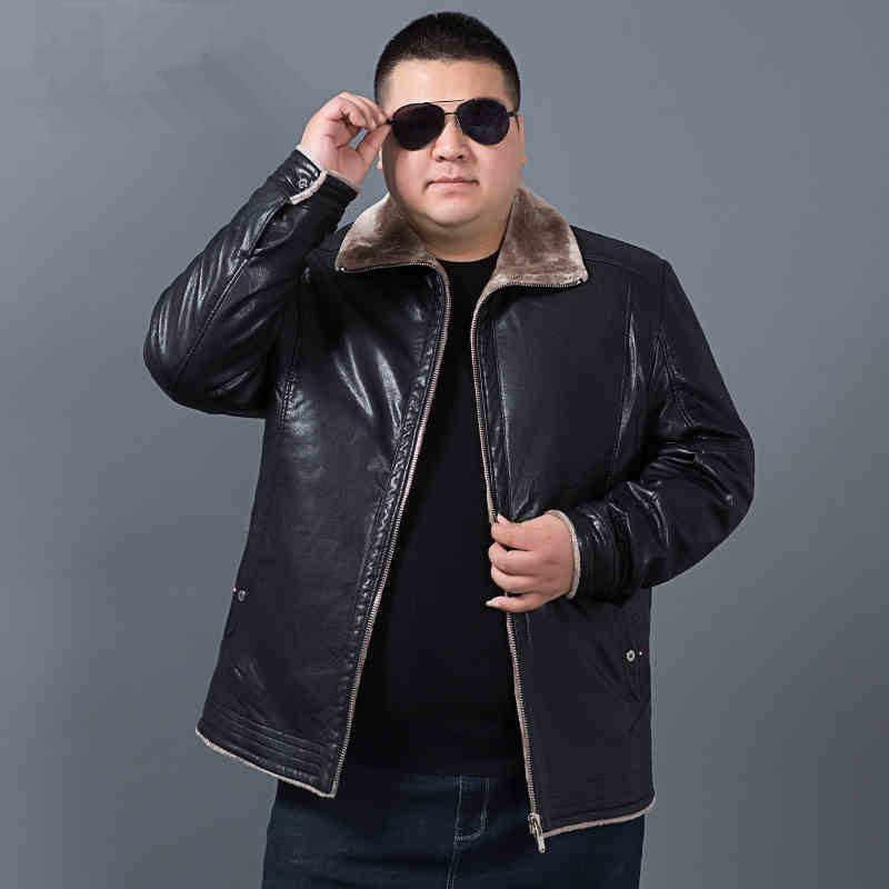 Plus tamanho 10xl 8xl 6xl 5x inverno dos homens jaqueta de couro genuíno marca vestuário casaco de pele carneiro rex pele de coelho parka com gola de vison
