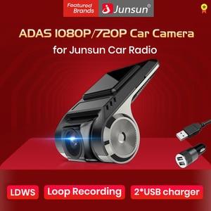 Junsun Dash Cam Front 1080P HD Recording DVR ADAS Hidden Car Camera Recorder With Car Radio Android Multimedia DVD Video Player