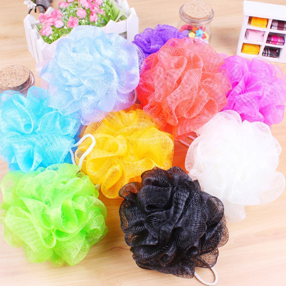 Bathroom Parts Body Mop Bath Flower Ball Sponge Shower Soft Sponge Bubbles Foaming Mesh Net Loofah Cleaning Wash Body Colorful