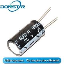 5 PIÈCES 6800UF 25V condensateur Électrolytique 25V 6800UF 16*25MM En Aluminium condensateur électrolytique