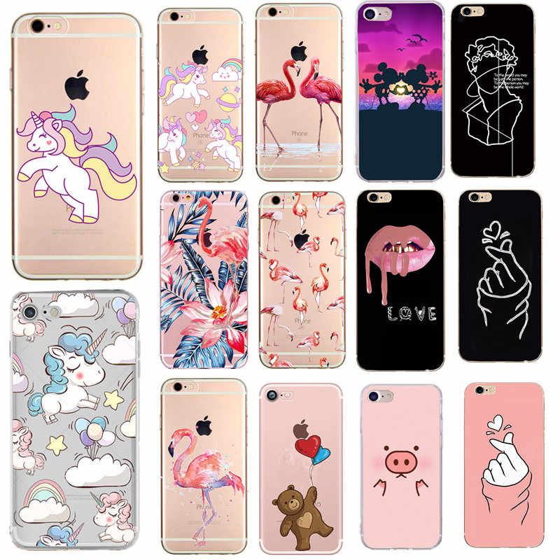 Voor Apple Iphone 7 Case Soft Shell Bloemen tpu Telefoon Cover Case Voor Iphone 6 6s 7 Plus 8 Plus 5 5S SE X XS Max XR Coque