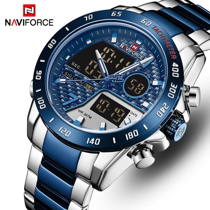 NAVIFORCE Watch Men Luxury Brand Dual Display Watches Men's Sports Quartz Wristwatch Analog Digital Male Clock Relogio Masculino