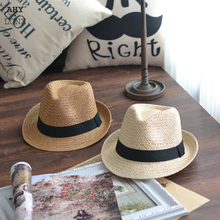 Beach Hats Straw-Hat Boater Caps Parent-Child Baby-Boy-Girl Summer Adult Fashion Casual