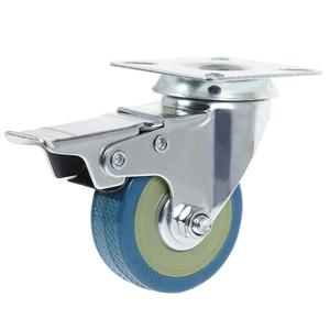 Image 3 - 4Pcs Set  Heavy Duty 50x17mm Rubber Swivel Castor Wheels Trolley Caster Brake 40KGModel:4 with brake HL 5