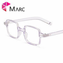 MARC Fashion Optical Glasses Frame Men TR90 Vintage Brand Square Eyeglasses Clear Lens Metal Resin Brown Light