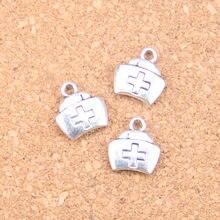 16pcs Charms first aid kit cross 13x12mm Antique Pendants,Vintage Tibetan Silver Jewelry,DIY for bracelet necklace