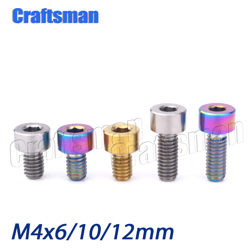 1x Titanium M4 x8.5-20mm bicycle Transmission tension limit adjusting screw bolt