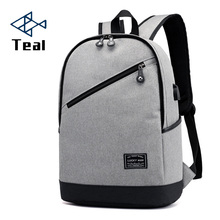 купить Men Canvas Backpack Gray Casual Rucksacks 14inch Laptop Backpacks College Student Male School Bag Backpack Women Mochila дешево