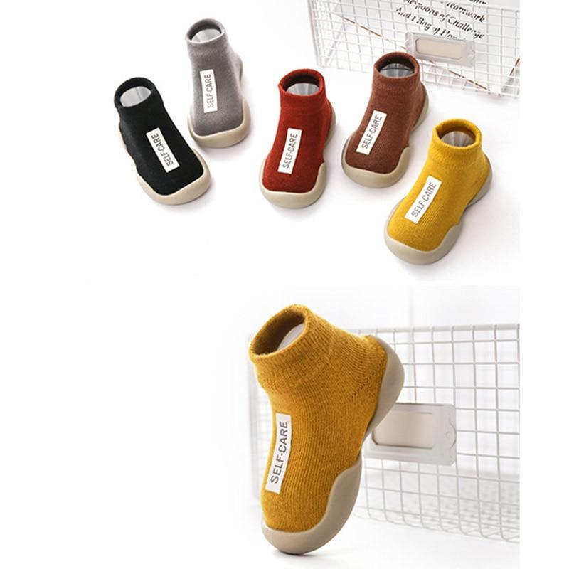 Cotton Baby Toddler Shoes Prewalker Non-slip Short Baby Sock Shoe Soft Sole Floor Shoe Baby Shoes Moccasins Walking Shoes 1 Pair
