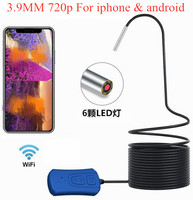 3.9mm 720P Wireless HD WIFI Endoscope Inspection Borescope Camera Water proof Otoscope for iphone and Android
