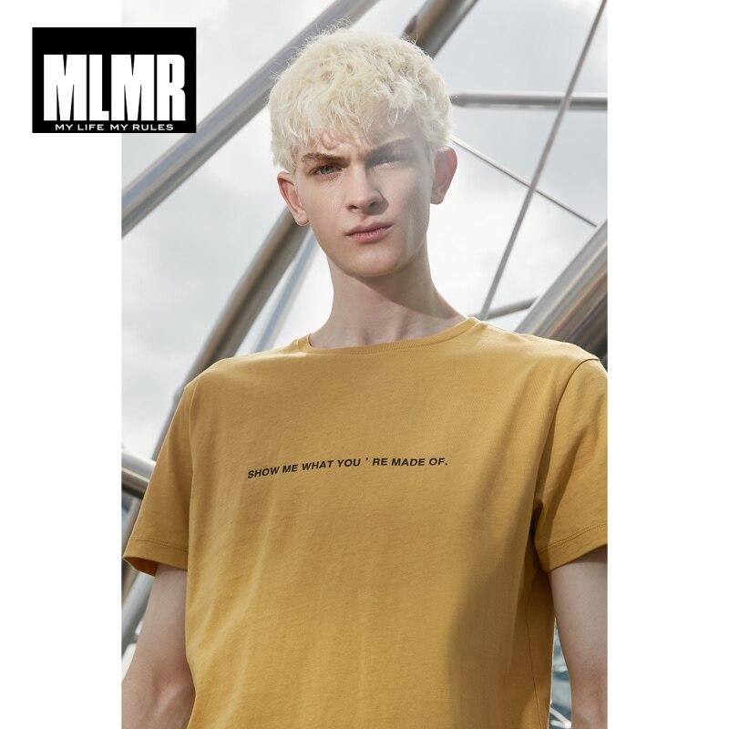 MLMR Men's 100% Cotton T-shirt Letter Printed T Shirt 2019 JackJones New Brand Menswear 219101534