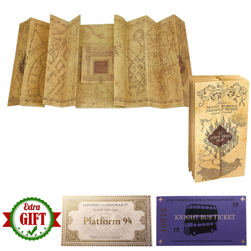 New Popular Potters The Marauder's Map Wizard School Ticket Students Harried Collection Gifts Fans Party
