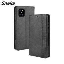 S20 Ultra Flip Cover Case for Galaxy S20 Note 10 Lite S10 E S8 S9 Plus Business Card Slots Coque PU Leather Wallet Protect Shell protective pu leather case w card holder slots for samsung galaxy note 3 n9000 black