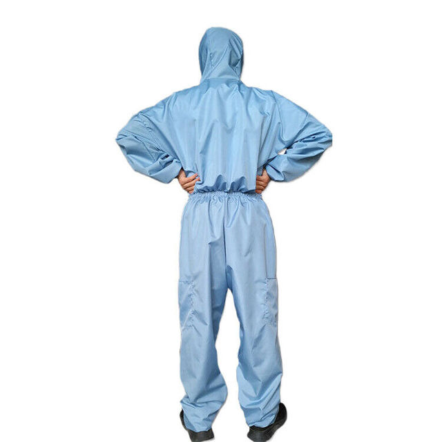 Reusable Anti-Virus Protective Clothing PPE Suit  Coverall Lab Full Body Cover Protection Suit Factory Anti Dust Hazmat Suit 2