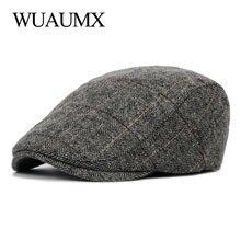 Hat Berets-Hat British-Style Cap Ivy-Cap Painter Duckbill Flat And Autumn Wuaumx Men