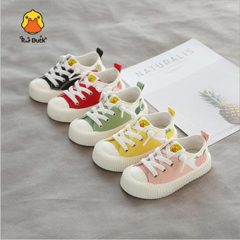 Rase Duck Kids Canvas Shoes Anti-Slip Breathable Baby Boys Girls Fruit Shoes Tenis Infantil Casual Children Shoes Kids Sneakers children canvas shoes fashion casual boys sneakers breathable girls flat shoes toddler baby kids shoes tenis infantil sapato