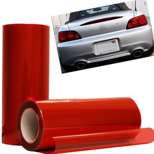 Красный Автомобильный светильник, подвесной светильник для автомобиля, задний светильник, виниловая пленка, наклейка, изменяющий цвет, про...