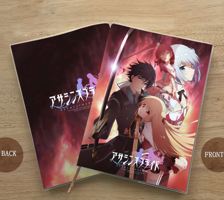 Anime ASSASSINS PRIDE Kufa Vampir Melida Angel Cosplay Student Notebook Eye Protection Notepad Diary Memorandum Gift
