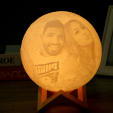 2 or 16 Color Personal Photo 3D Print Moon Night light USB Charged Touch/Remote Control Home Decoration Christmas New Year Gift