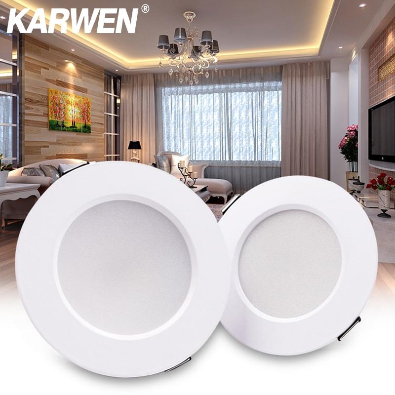 KARWEN LED Downlight White Ceiling 5W 7W 9W 12W 15W AC 220V 230V 240V Led Downlight Cold  Warm White Led Light For Bedroom