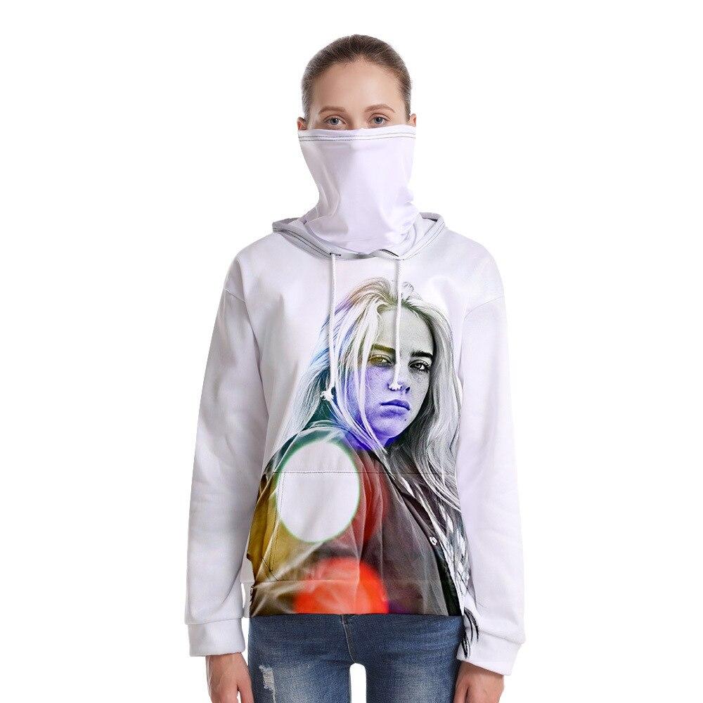 Billie Hoodies Women men Hoodies Casual Loose Drawstring Sweatshirt Long Sleeve Hooded Autumn Academia Hoodie Pullover