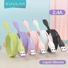 KUULAA – câble Micro USB en Silicone liquide, charge rapide, pour Samsung, Xiaomi, tablette Android, téléphone portable