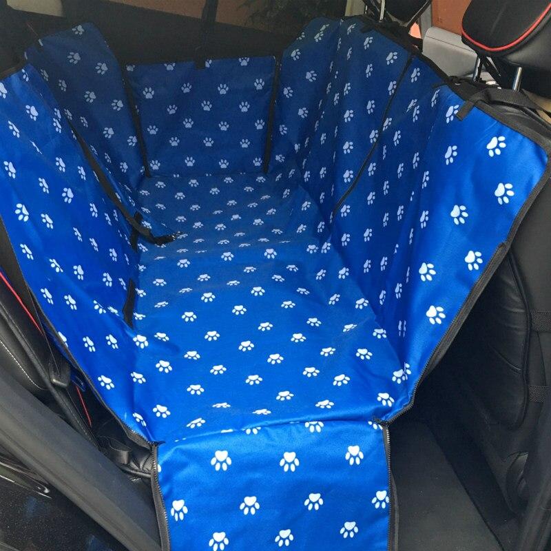 Конфеты питомник след Средства для переноски собак Водонепроницаемый задняя собака автомобиля сиденья Коврики Гамак Протектор с Предметы безопасности ремень D1010 - Цвет: Синий