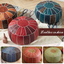 Unstuffed-Cushion Footstool Ottoman Pouf Moroccan Embroider Round Home-Decor Hassock