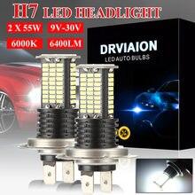 2 шт h7 110 Вт светодиодный автомобилей головной светильник