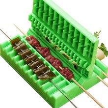 Kebab-Maker Grill Skewers Bbq-Gadget Stringer-Box-Machine Vegetables-String Beef Kitchen-Accessories