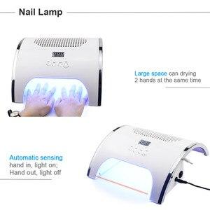 Image 5 - Secador de lâmpada uv led 2 em 1 80w, máquina para limpeza de unhas com ventilador de poeira, coletor de poeira ferramentas de manicure com sucção à vácuo,