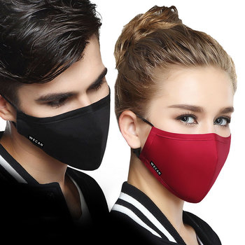 WECAN PM2.5 Protective Face Mask 5 layer mascaras Anti-Dust Flu Mouth Masks Respirator Activated Carbon filter Washable Masks