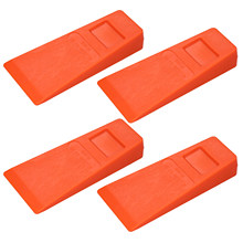 Cuña de plástico para cortar árboles, herramienta de corte de madera, color naranja, 14cm, 4 Uds.