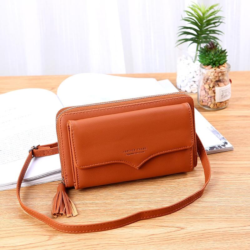 Send Chen Bag Women's 2019 New Style Women's Phone Wallet Large Capacity Long Clutch Zipper Cross-body Shoulder Bag
