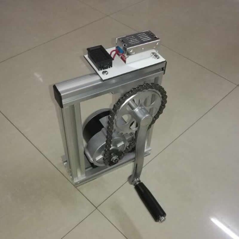 100 Вт ручной генератор 12V24V структура алюминиевого сплава (отправить вольтметр выпрямитель мост) учебное оборудование|Детали генератора и аксессуары|   | АлиЭкспресс