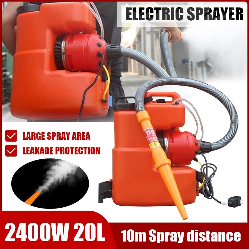 2400W 20L Electric ULV Fogger Sprayer Ultra Capacity Disinfection Machine Mosquito Killer 6-10M Distance Fight Drugs Sprayer
