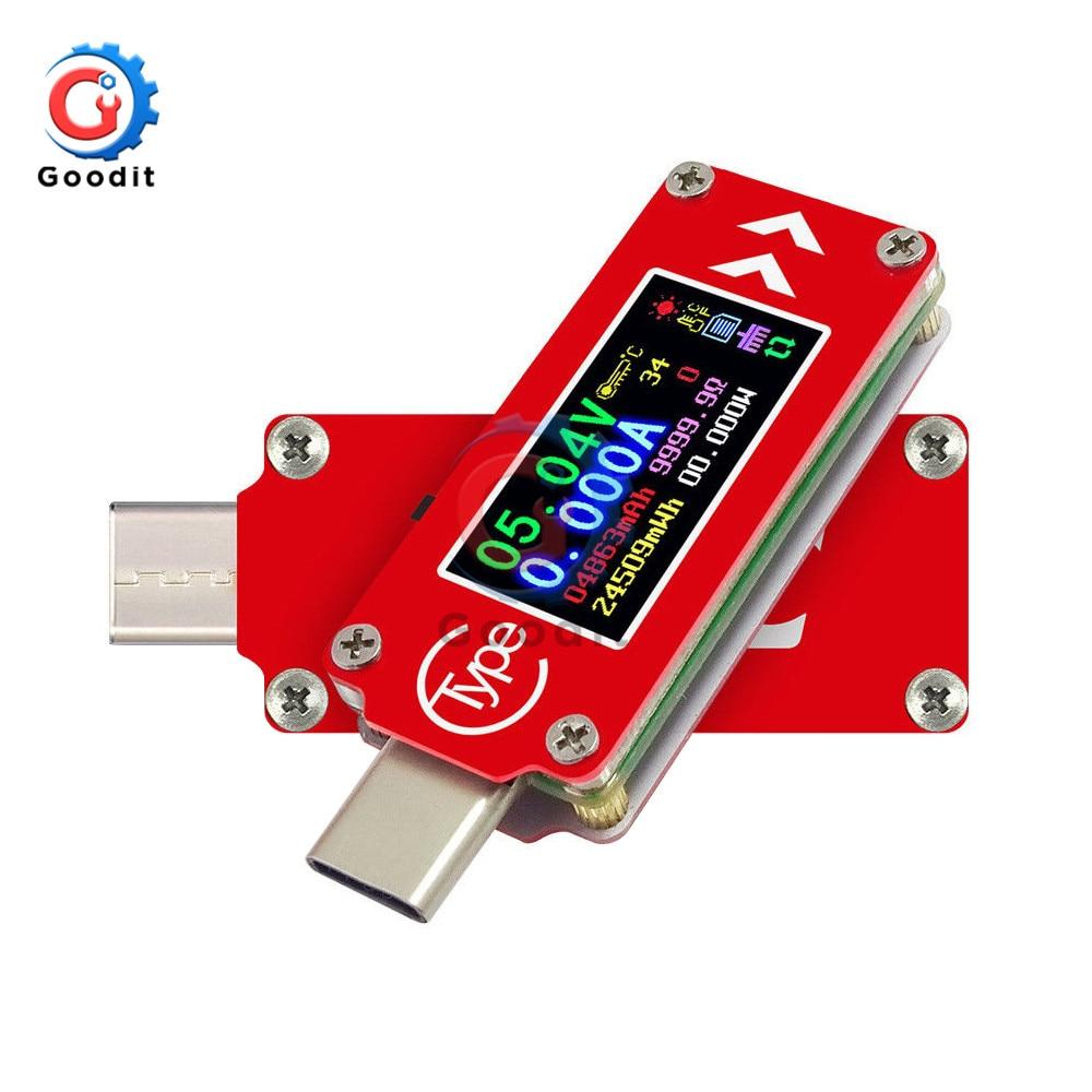 USB-тестер TC64 QC2.0 QC3.0 с цветным ЖК-дисплеем, вольтметр, амперметр, измеритель напряжения и тока, мультиметр, зарядное устройство, внешний аккум...
